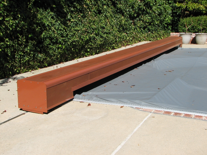 Deck mount pool cover photos swimming pool cover - Swimming pool electrical deck box ...